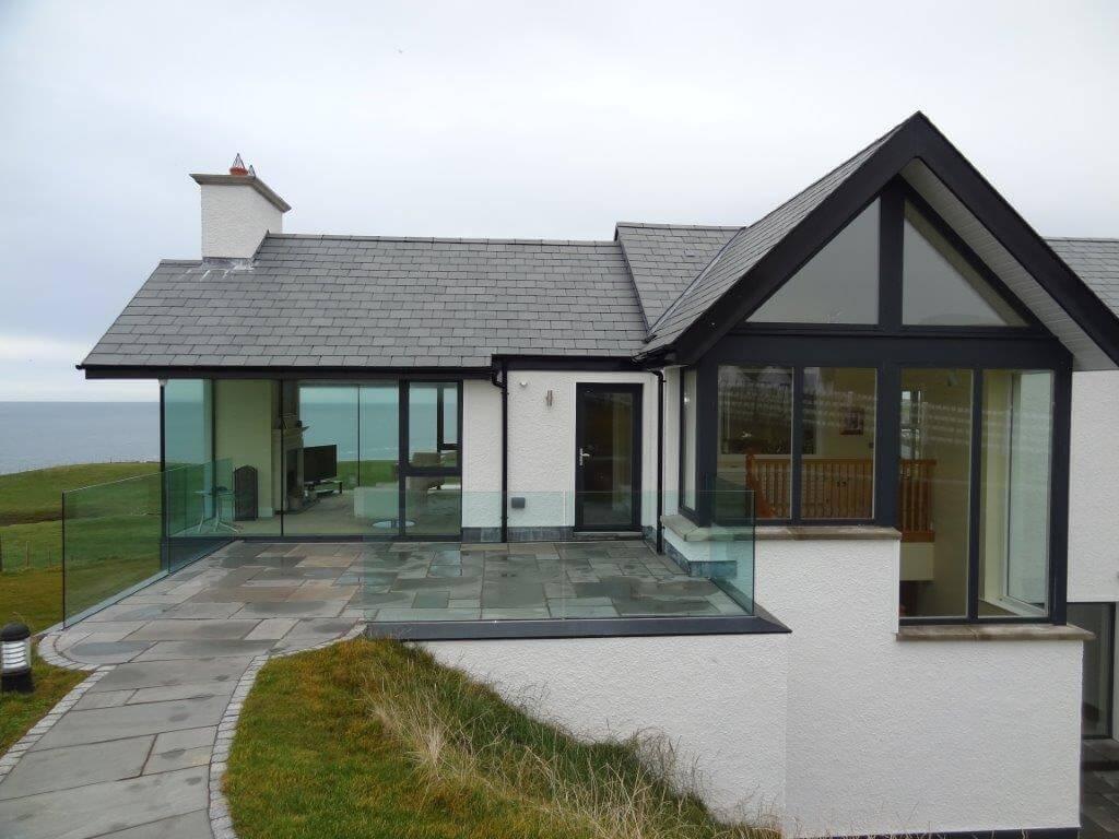 Exterior framless glass balustrades Northern Ireland